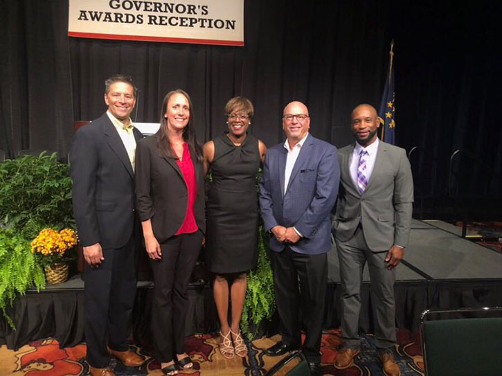 DFC employees attending the Indiana Black Expo Governor's Awards Reception